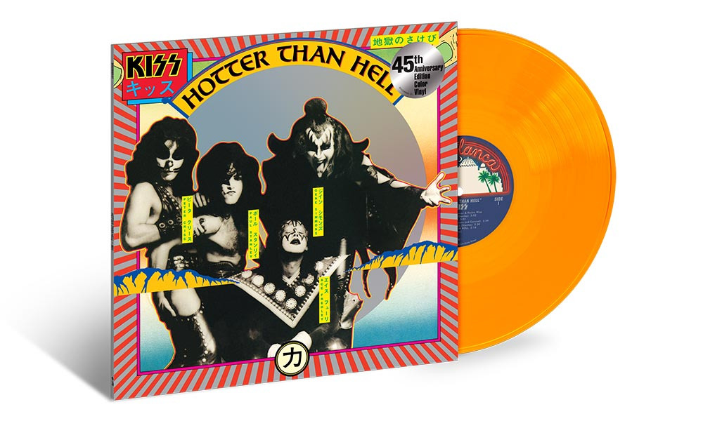 Coloured Vinyl Editions Of KISS' 'Hotter Than Hell' And 'Hot In The Shade' Set For Release