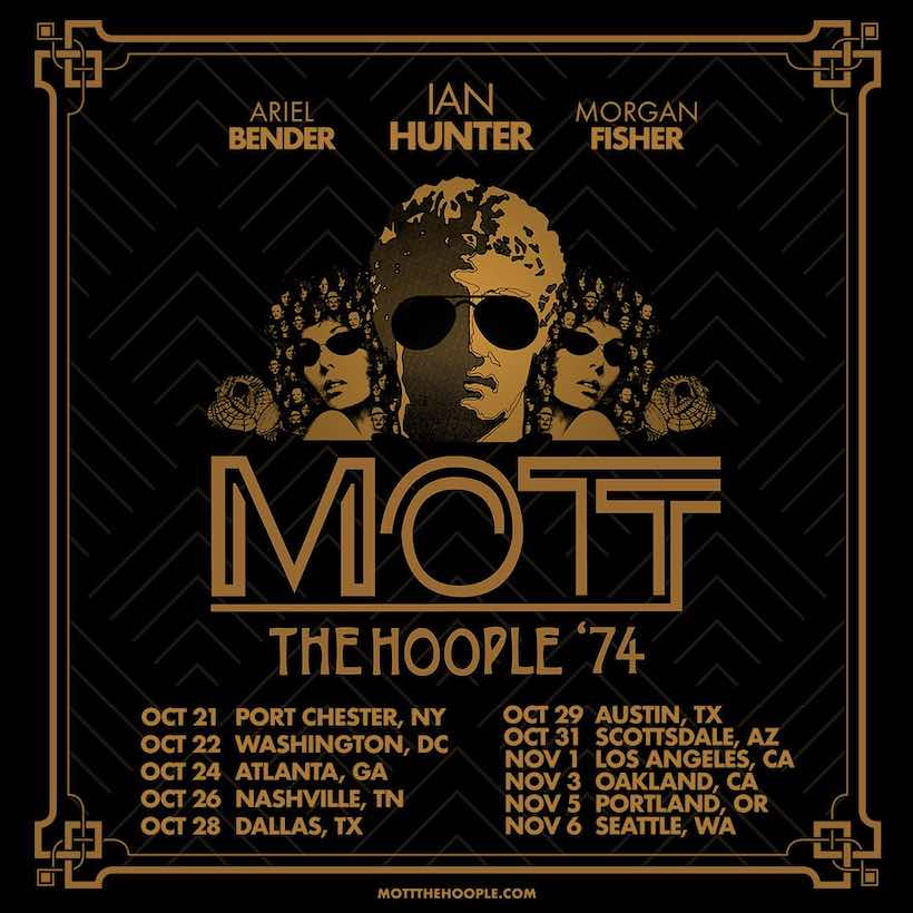 Mott The Hoople '74 tour poster