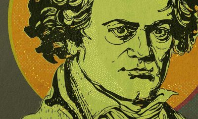 Beethoven composer image - yellow