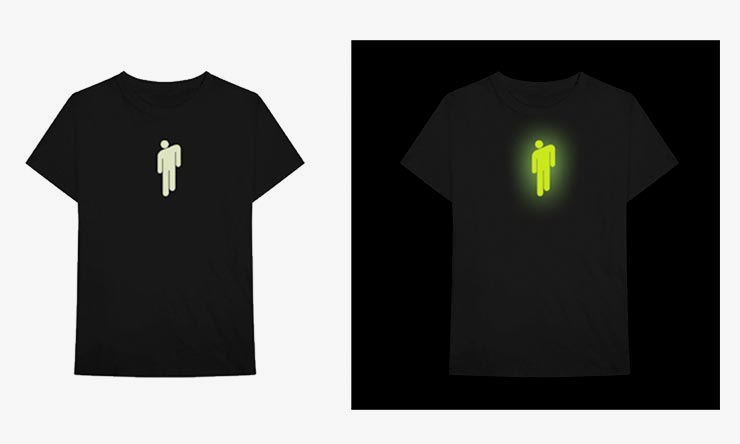 Billie Eilish glow logo T shirt
