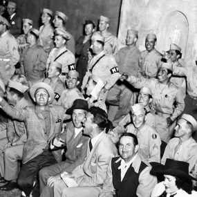 Bing Crosby with soldiers courtesy Decca