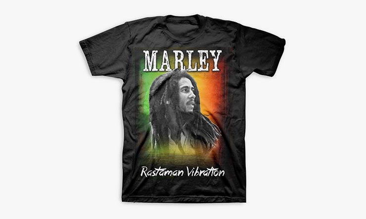 Bob Marley Rastaman Sunset T shirt 740