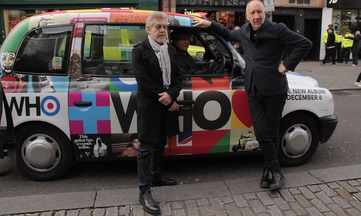 Townshend Daltrey taxi courtesy Music Walk Of Fame