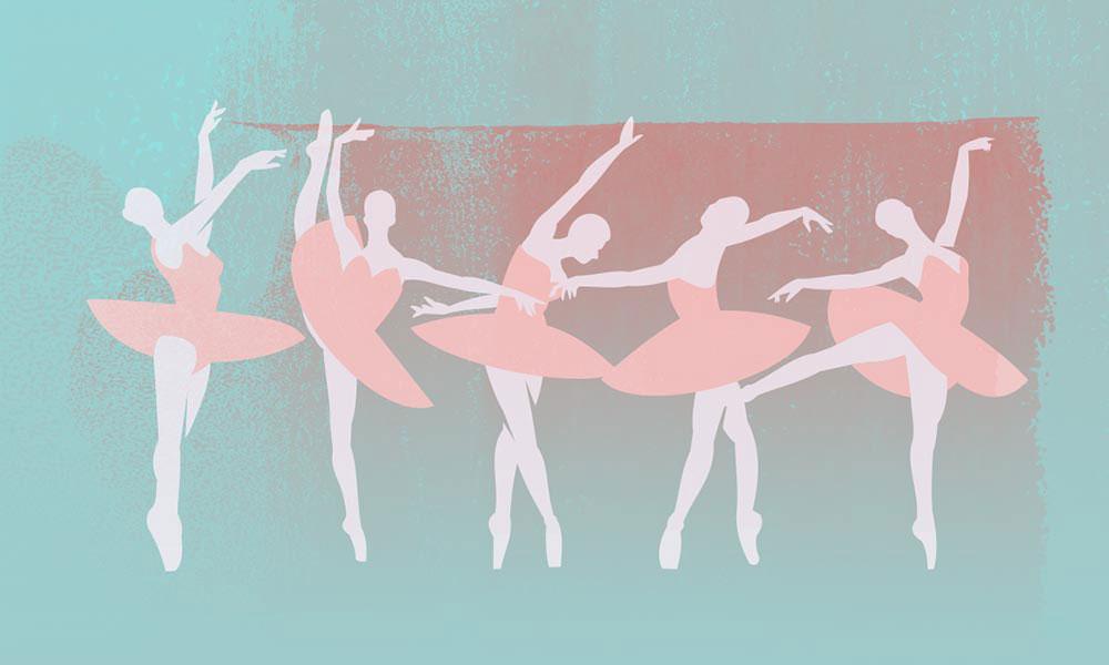 Tchaikovsky Swan Lake image of ballet dancers