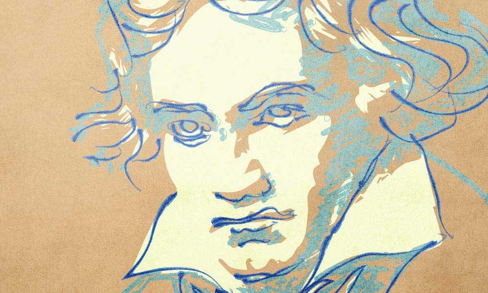 Beethoven Composer image yellow