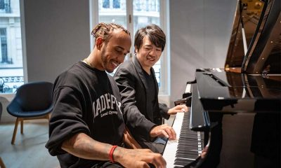 Lewis Hamilton and Lang Lang photo