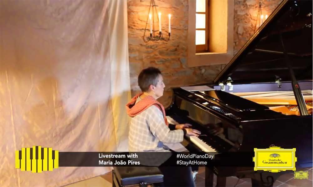 World Piano Day livestream - image of Maria Joao Pires