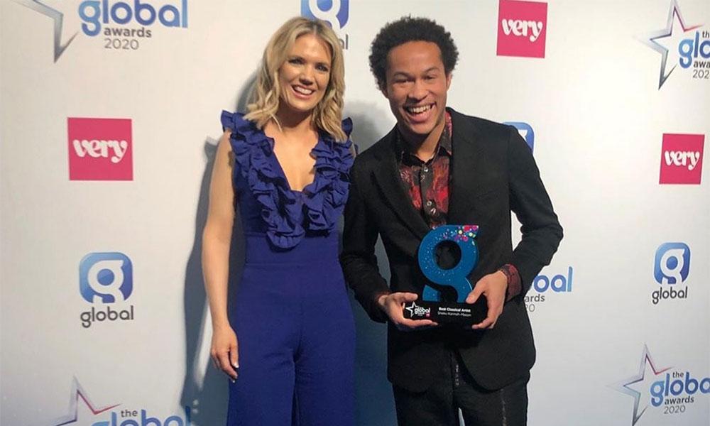 Sheku Kanneh-Mason and Charlotte Hawkins at Global Awards - photo