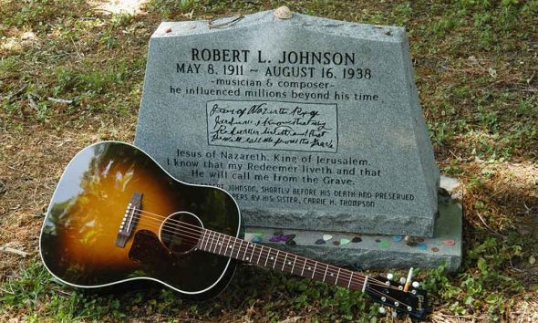 One of Robert Johnson's Gravestones