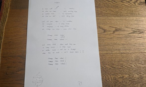 Roger Taylor Handwritten Lyrics