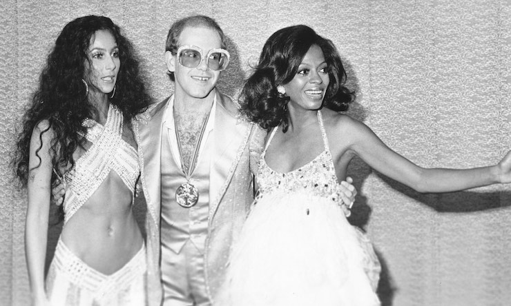 Cher Elton John and Diana Ross -GettyImages-74277475