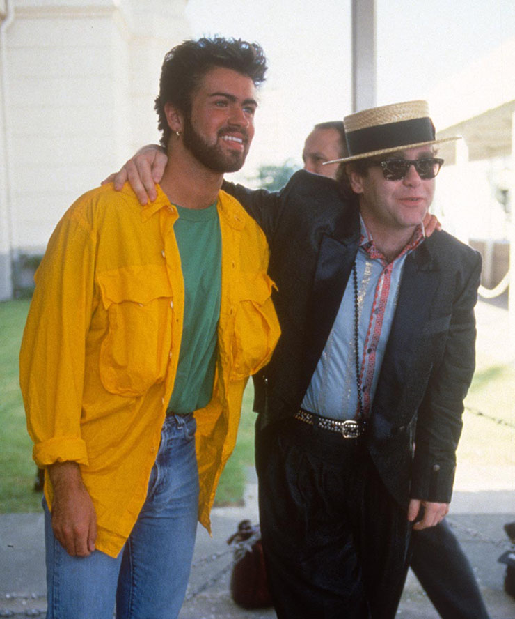 George Michael and Elton John at Live Aid