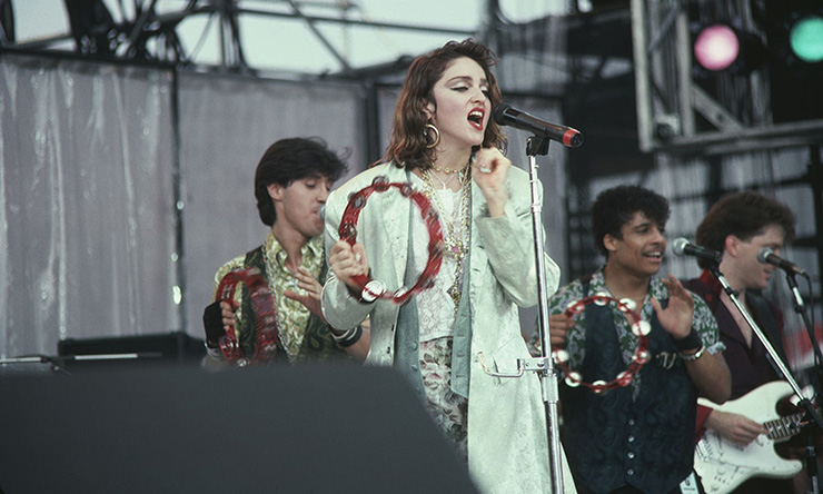 Madonna at Live Aid
