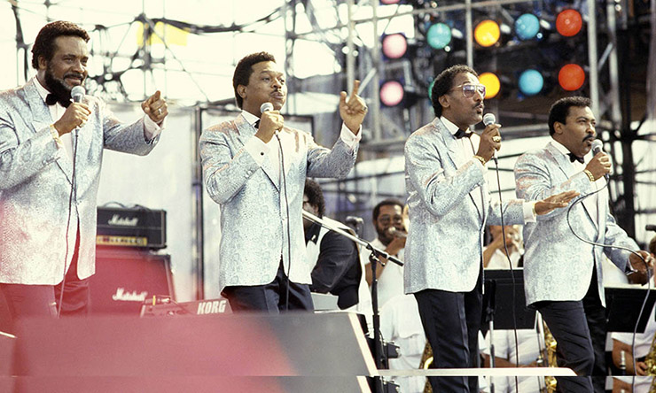 The Four Tops at Live Aid