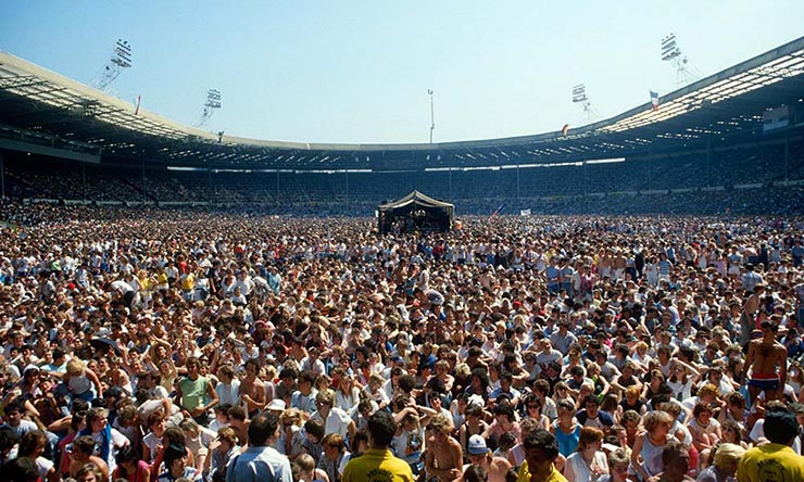 Crowd at Live Aid