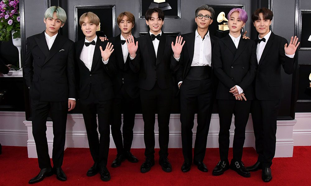 BTS at the Grammy Awards