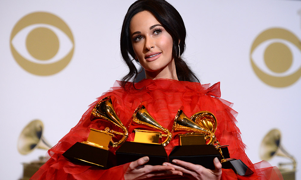 Kacey Musgraves Holding Grammys