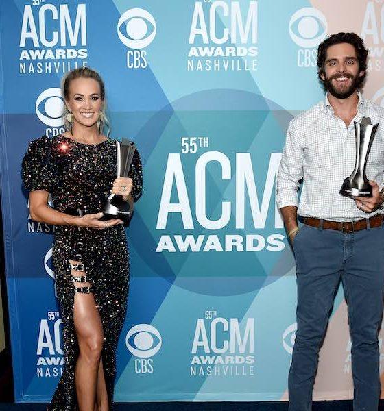 Carrie Underwood Thomas Rhett ACM Awards GettyImages 1272915181