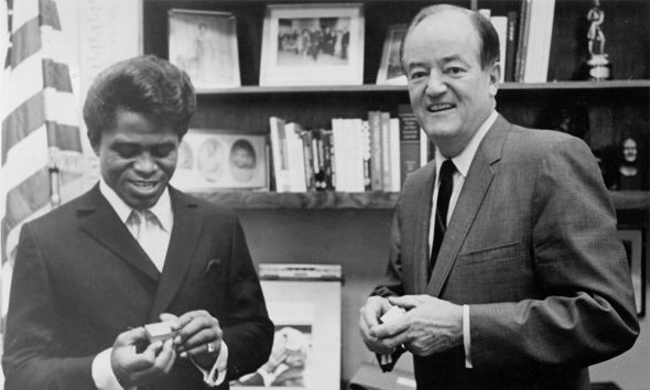 James Brown and US Vice President Hubert Humphrey