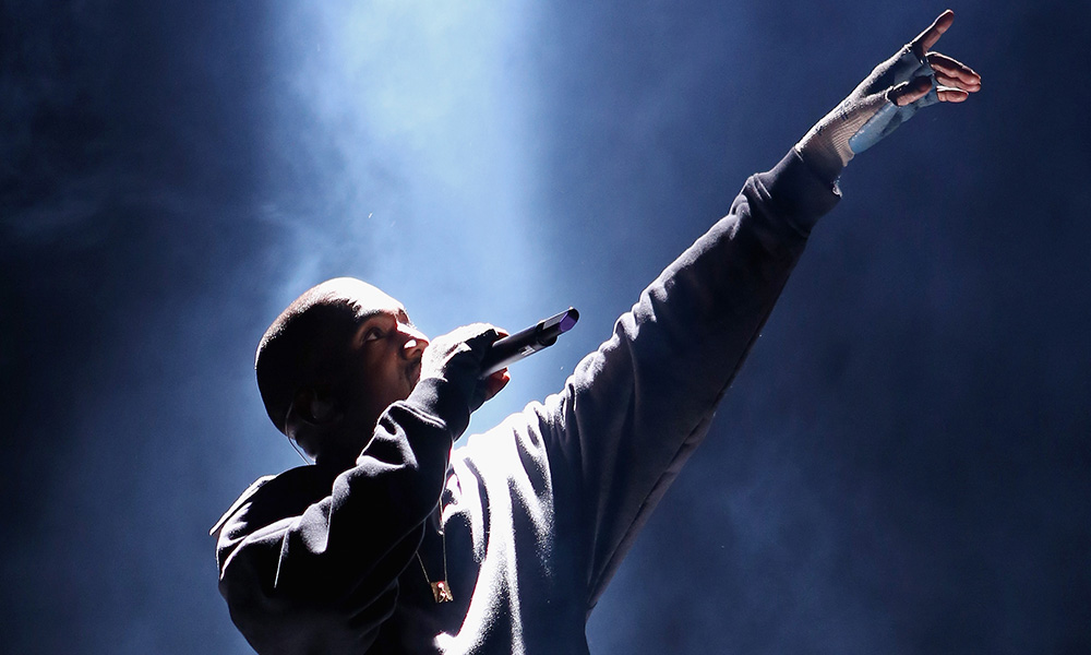 Kanye West photo by Jerritt Clark and Getty Images for Roc Nation
