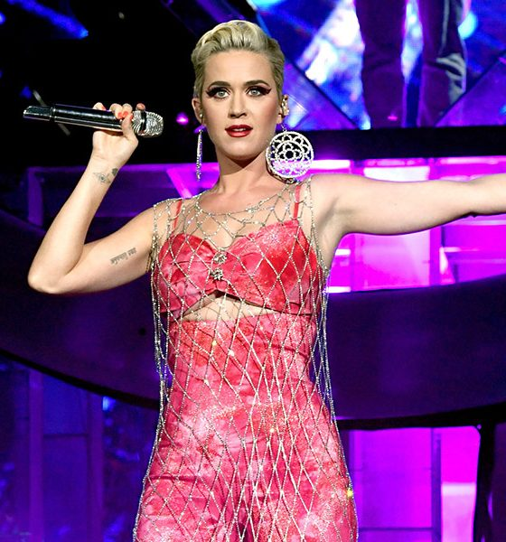 Katy Perry photo by Rich Fury and Getty Images