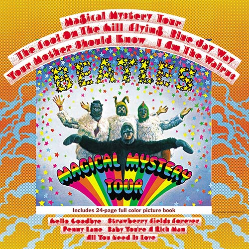 Beatles album cover for Magical Mystery Tour