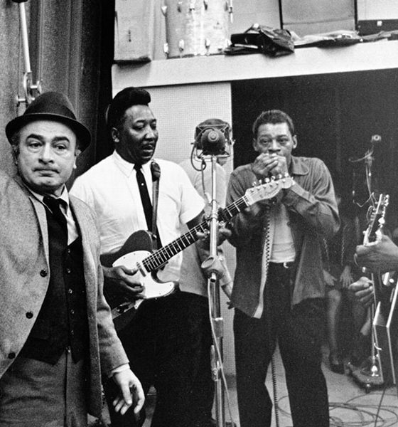Chess Records co-founder Phil Chess, Muddy Waters, Little Walter, and Bo Diddley