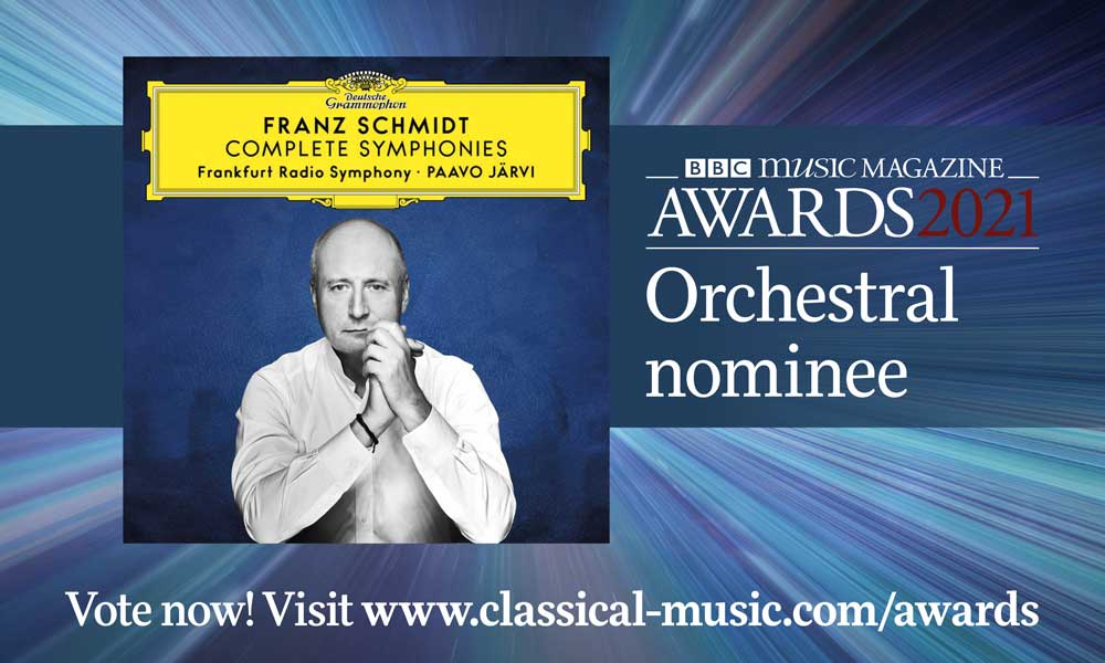 Paavo Jarvi Frank Schmidt Symphonies cover - BBC Music Magazine Awards