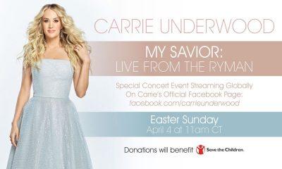 Carrie Underwood Ryman livestream banner