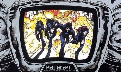 close up of Thin Lizzy album cover for Jailbreak