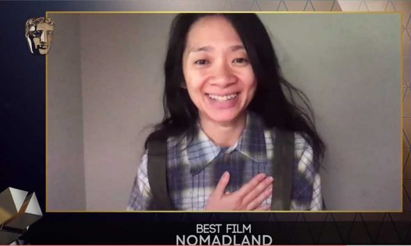 Chloe Zhao Nomadland Director at Bafta Awards