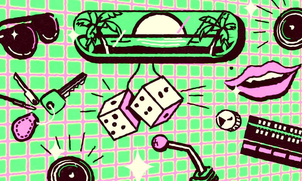 Songs about cars and driving illustration