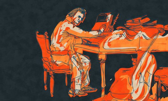 Beethoven piano concertos - featured image of Beethoven at piano