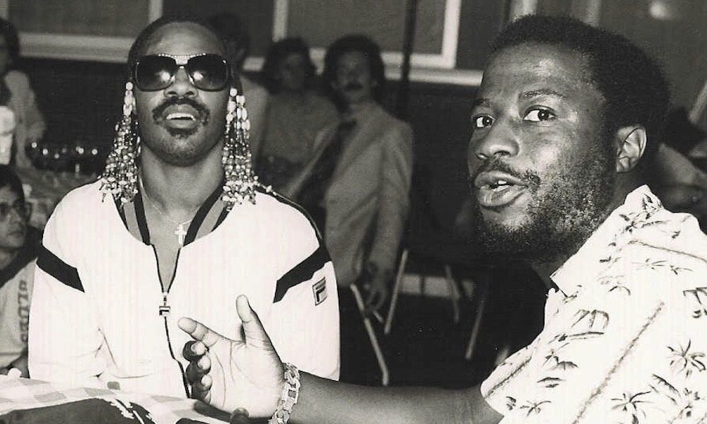 Stevie Wonder Les Spaine Hotter Than July party