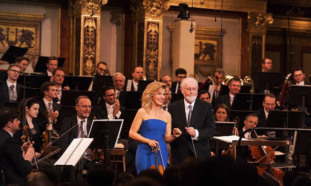 John Williams and Anne-Sophie Mutter photo