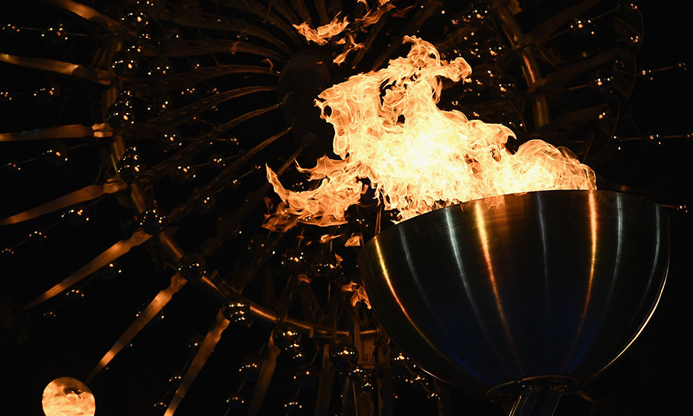Olympic flame being lit in Rio