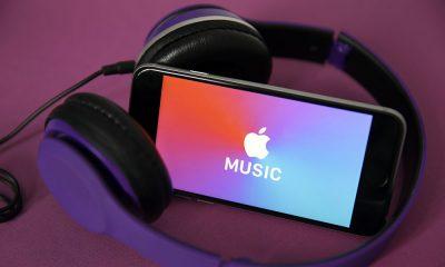 Apple Music logo on iphone