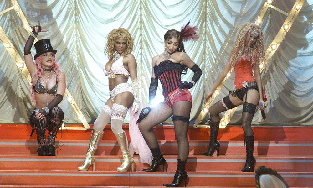 A performance of Lady Marmalade, one of the best music videos of the 00s